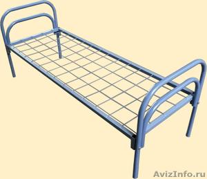 двухъярусные металлические кровати для общежитий, одноярусные кровати оптом - Изображение #4, Объявление #689440
