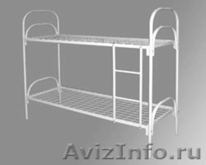 двухъярусные металлические кровати для общежитий, одноярусные кровати оптом - Изображение #2, Объявление #689440