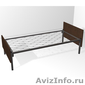 двухъярусные металлические кровати для общежитий, одноярусные кровати оптом - Изображение #5, Объявление #689440