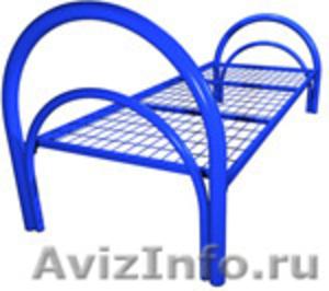 двухъярусные металлические кровати для общежитий, одноярусные кровати оптом - Изображение #3, Объявление #689440