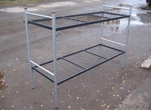 Кровати металлические двухъярусные для казарм, кровати для больниц. Дешево - Изображение #2, Объявление #1479536