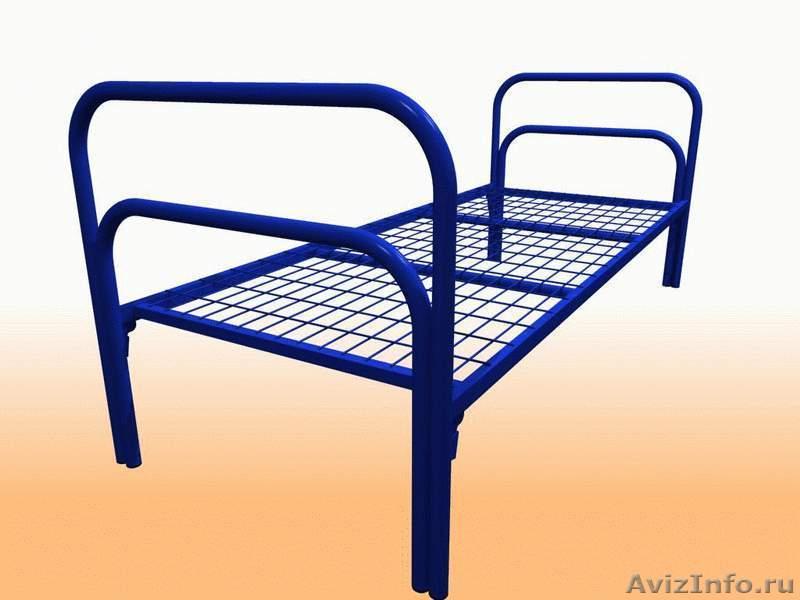 Кровати металлические для казарм, кровати двухъярусные для студентов. Дёшево, Объявление #1479378
